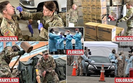 國民警衛隊在各州隨時待命準備支援
