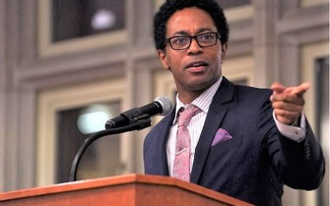 (file) Wesley Bell speaks to the MU Black Law Student Association on Saturday during the Lloyd Gaines Banquet in Memorial Union. Bell is the first black St. Louis County prosecutor.