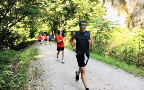 跑步健身,景色怡人