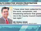 聖路易郡衛生局局長Faisal Khan遭種族歧視、威脅行為<br>聖路易亞裔社區聯名聲援譴責